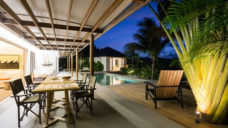 Villa Alaia - By Night - Eden Rock Villa Rental - St Barth