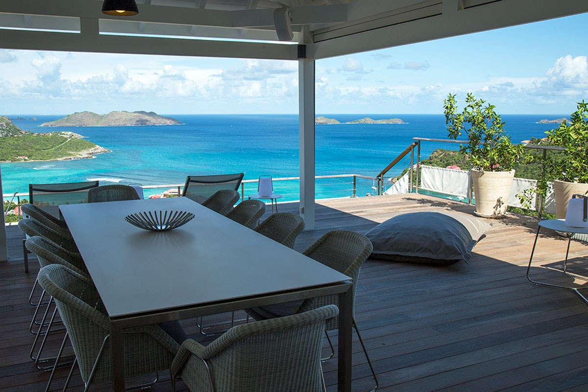 Villa W View - Eden-Rock-Villa-Rental - dining table ©Laurent Benoit (16)-jpg