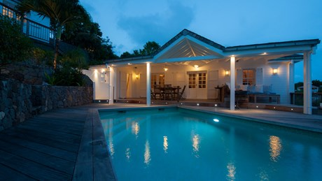 Villa Rock House - Eden-Rock-Villa-Rental - night