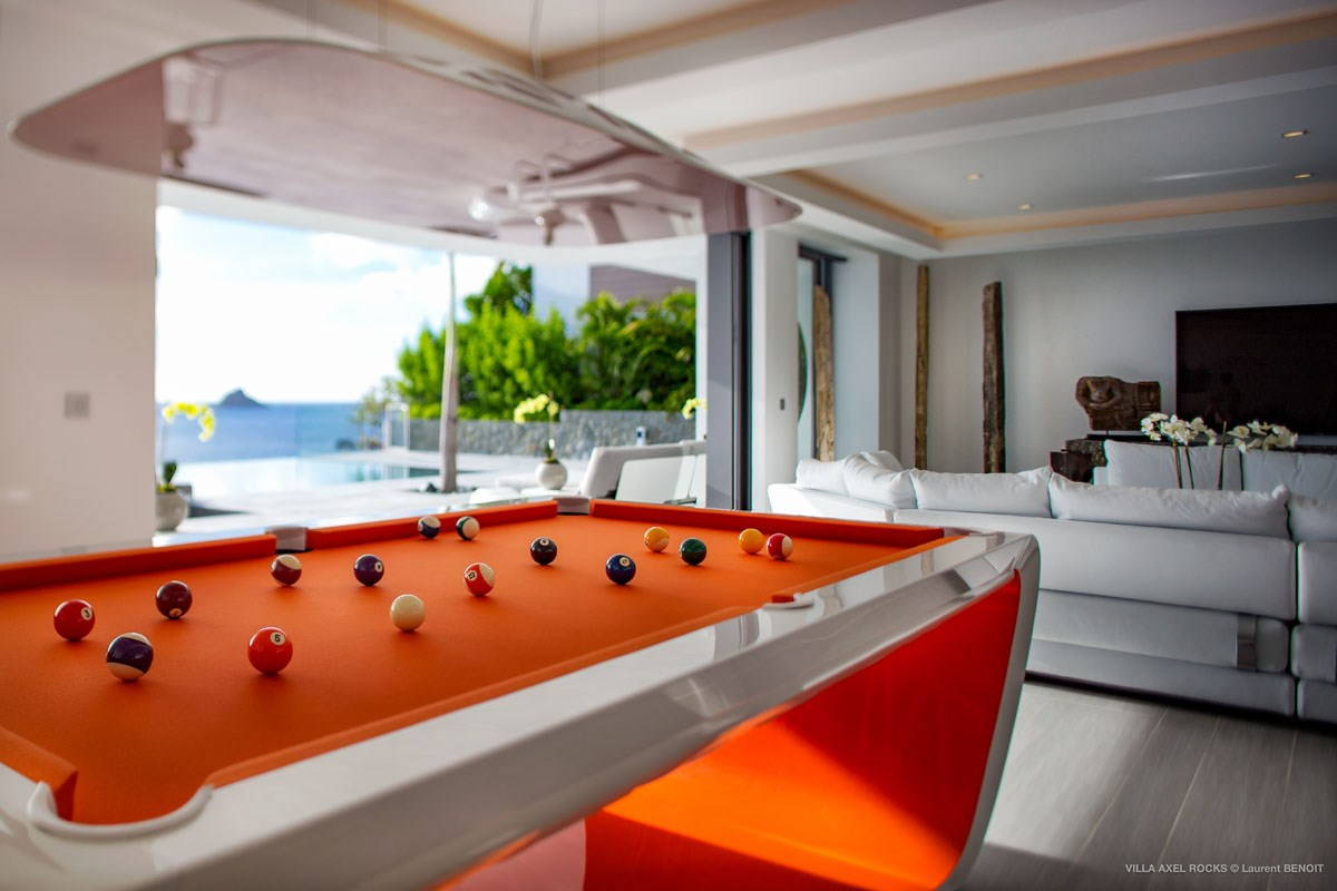 Villa Axel Rocks -Eden-Rock-Villa-Rental - Laurent Benoit - pool table (28)-jpg