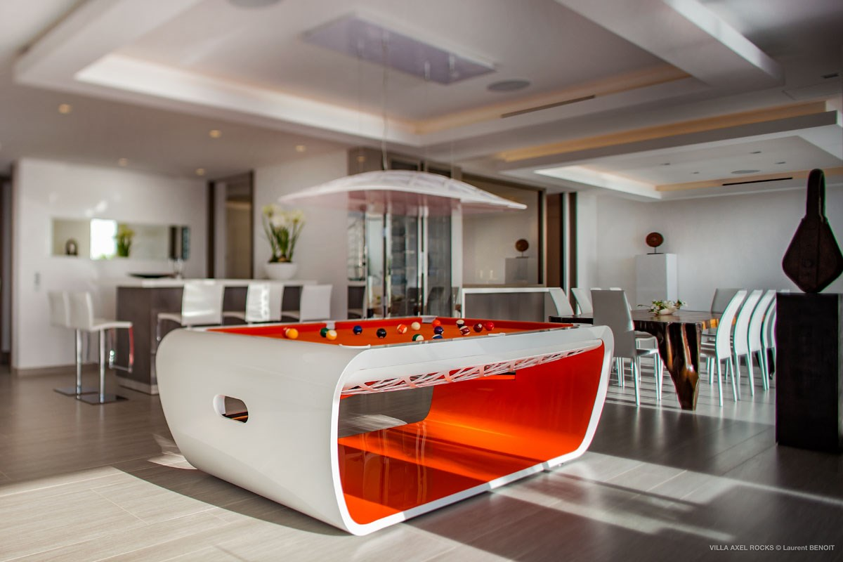 Villa Axel Rocks -Eden-Rock-Villa-Rental - Laurent Benoit - pool table (29)-jpg