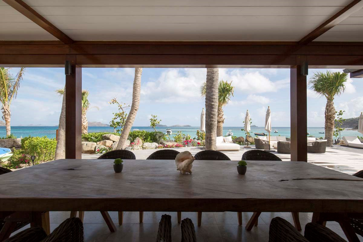 Eden Rock Villa Rental - La Plage - Exterior table-jpg