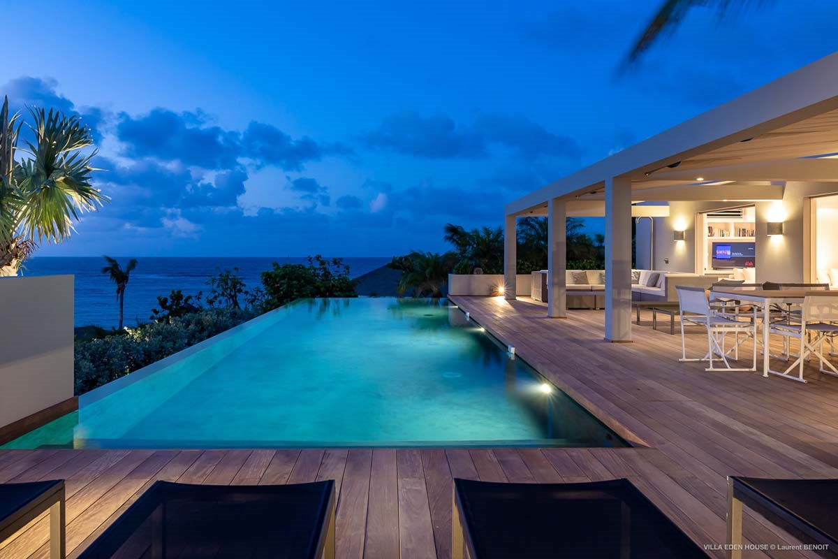 Eden Rock Villa Rental - Eden House - pool by night - Laurent Benoit-jpg