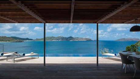 Eden Rock Villa Rental - Pointe Milou - Living room view-jpg