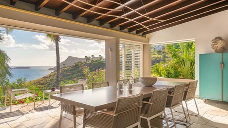 Eden Rock Villa Rental - Villa Acamar-Dining Area- By Laurent Benoit-jpg
