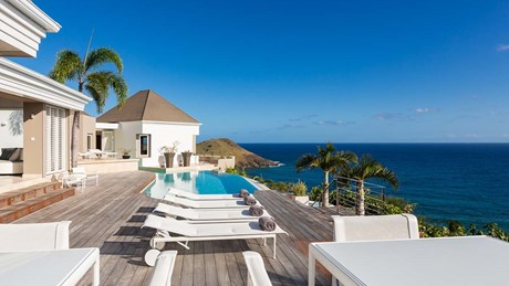 Eden Rock Villa Rental - Villa Acamar-Sunbeds-pool terrace- By Laurent Benoit-jpg