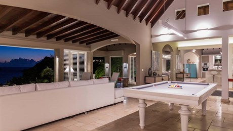 Eden Rock Villa Rental- Villa Acamar-Living Room Area-Pool Table- By Laurent Benoit-jpg