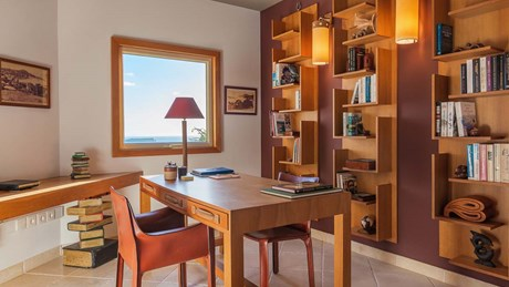 Eden Rock Villa Rental- Villa Acamar-Master Bedroom - Office space- By Laurent Benoit-jpg